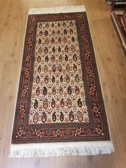 236x104 Vintage handgeknoopt perzisch tapijt Serabent